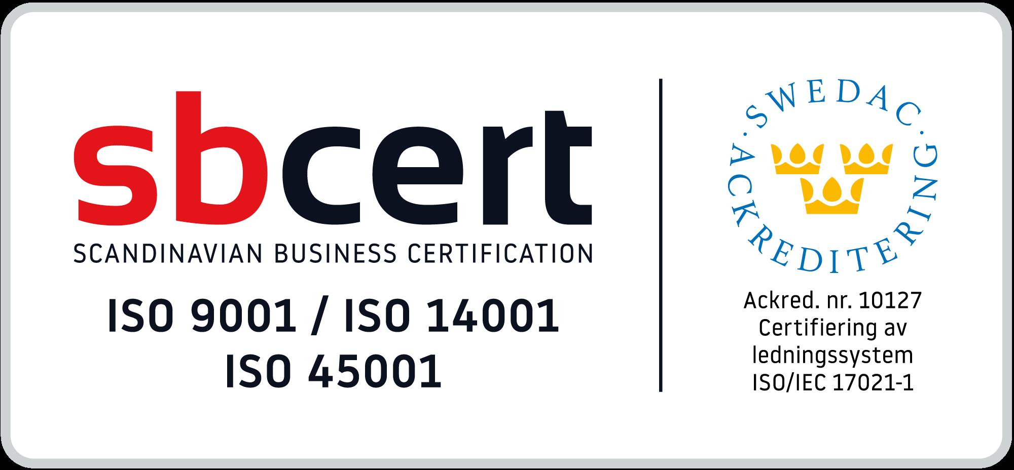 Swedac Certifiering ISO